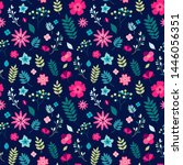 floral seamless pattern with... | Shutterstock .eps vector #1446056351