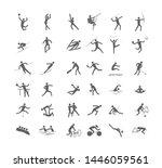 big set of sport games.... | Shutterstock . vector #1446059561