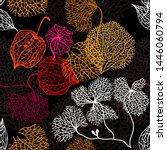 dry autumn leaves. seamless...   Shutterstock .eps vector #1446060794