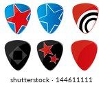 set of guitar picks eps 10. | Shutterstock .eps vector #144611111