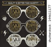 vector set of vintage glasses. | Shutterstock .eps vector #144611177