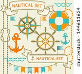 collection of nautical symbols. ... | Shutterstock .eps vector #144611624