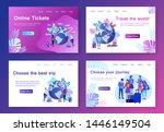 modern flat concept web banners ... | Shutterstock .eps vector #1446149504