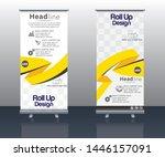 banner roll up design  business ...   Shutterstock .eps vector #1446157091