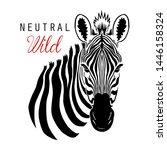 zebra illustration tee graphic... | Shutterstock .eps vector #1446158324