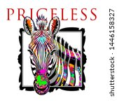 zebra illustration tee graphic... | Shutterstock .eps vector #1446158327