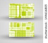 vector business card  set for... | Shutterstock .eps vector #144616805