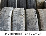 Old truck tires - stock photo