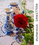 Blue And White Delft Vases With ...