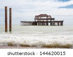burned out west pier ruins....