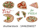 collection of type of pizza....