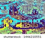 fantasy abstraction for... | Shutterstock . vector #1446210551