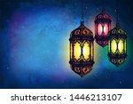 Beautiful Banner With Lanterns. ...