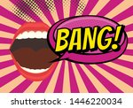 speech bubble with woman lips... | Shutterstock .eps vector #1446220034