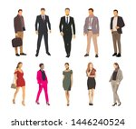 business men and women  group... | Shutterstock .eps vector #1446240524