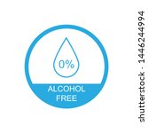 alcohol free icon symbol.... | Shutterstock .eps vector #1446244994