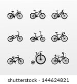 bicycles  set of 9 bikes