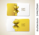 bright vector card with bow | Shutterstock .eps vector #144625664