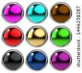 glossy round buttons in...