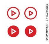 play button vector set. media... | Shutterstock .eps vector #1446260081