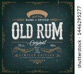 vintage old rum label for... | Shutterstock .eps vector #1446295277