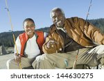 portrait of happy grandfather...   Shutterstock . vector #144630275
