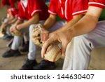 low section of baseball team... | Shutterstock . vector #144630407