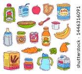 baby food child healthy... | Shutterstock . vector #1446316091