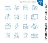 trash related icons. editable... | Shutterstock .eps vector #1446318164