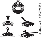 tank logo pack icon design... | Shutterstock .eps vector #1446321464