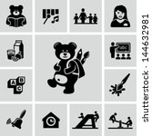 preschool icons   Shutterstock .eps vector #144632981