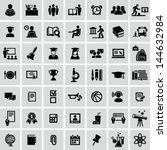 school and education icons | Shutterstock .eps vector #144632984