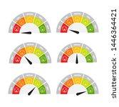 rating customer satisfaction... | Shutterstock .eps vector #1446364421