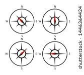 compass icon set vector design... | Shutterstock .eps vector #1446364424