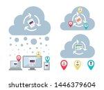 cross location teams...   Shutterstock .eps vector #1446379604