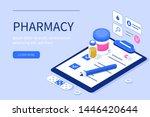 pharmacy and prescription... | Shutterstock .eps vector #1446420644