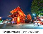 Pagoda in Senso-ji, a Buddhist temple dedicated to Kannon Bosatsu, the Bodhisattva of compassion, it is Tokyo