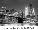New York City Brooklyn Bridge...