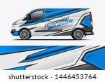 van wrap design. wrap  sticker... | Shutterstock .eps vector #1446453764