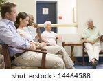 five people waiting in waiting... | Shutterstock . vector #14464588