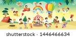 vector illustration of kids... | Shutterstock .eps vector #1446466634