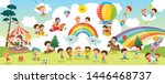 vector illustration of kids... | Shutterstock .eps vector #1446468737