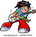 anime manga rock star guitar...