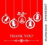 thank you card. vector...   Shutterstock .eps vector #1446483047
