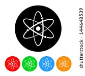 atomic symbol icon with color... | Shutterstock . vector #144648539