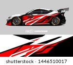 racing car wrap design concept. ...   Shutterstock .eps vector #1446510017