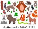 set of cute cartoon forest...   Shutterstock .eps vector #1446512171