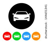 sports car icon with color... | Shutterstock . vector #144651341