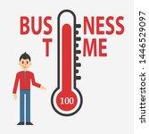 temperature thermometers... | Shutterstock . vector #1446529097
