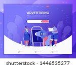 advertising flat concept vector ...